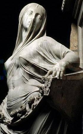 la pudeur,sculpture,italie,lumières,franc-maçonnerie,drapé-mouillé