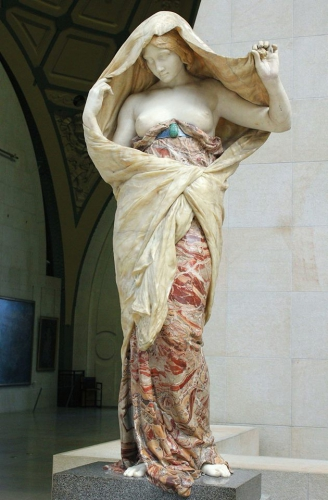 La Pudeur, Sculpture, Italie, Lumières, Franc-maçonnerie, drapé-mouillé